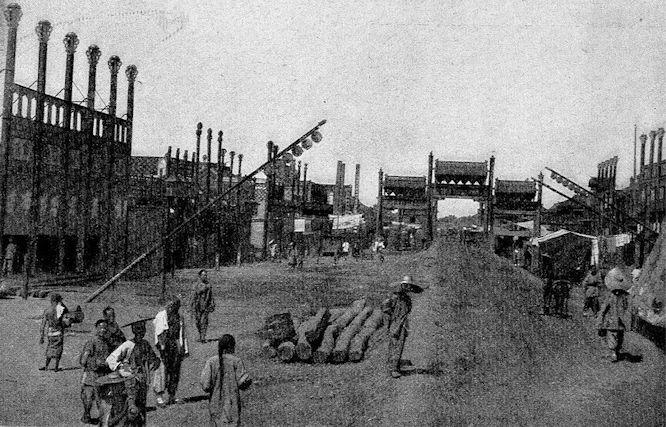Handelsstraße in der Tatarenstadt zu Peking.