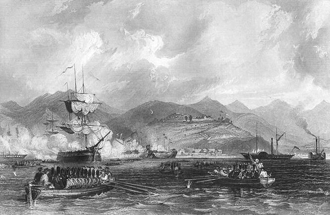 China Opium War British Navy Capture Chusan Zhoushan 1842