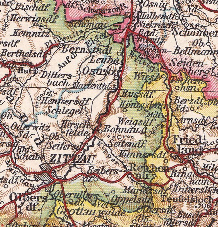 Ostsachsen östlich der Neisse, Landkarte 1910