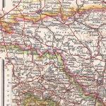 Westliches Schlesien, Oberlausitz, Landkarte 1910