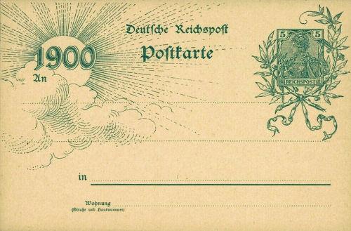 Deutsche Reichspost 1900