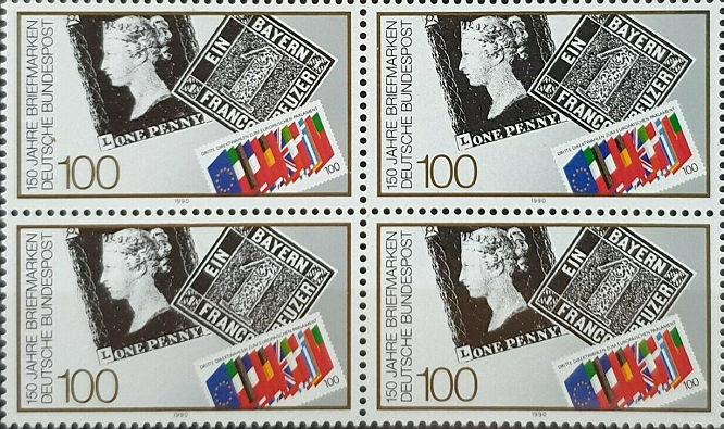 One Penny und Schwarzer Einser und Sachsen Dreier, 150 Jahre Briefmarken