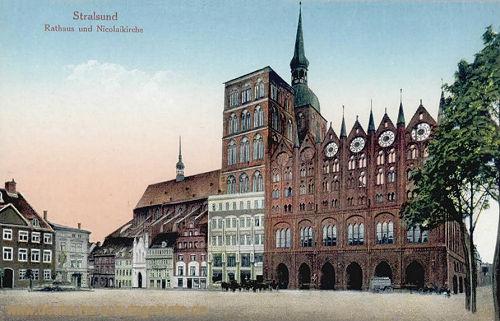 Stralsund, Rathaus und Nicolaikirche