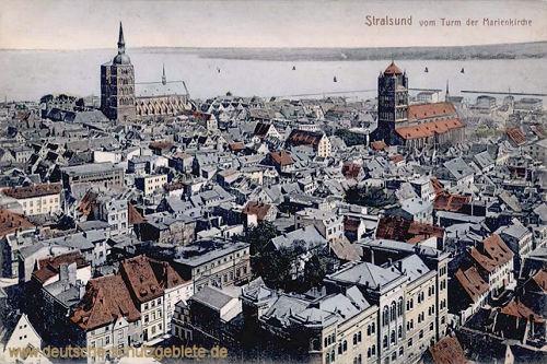 Stralsund vom Turm der Marienkirche