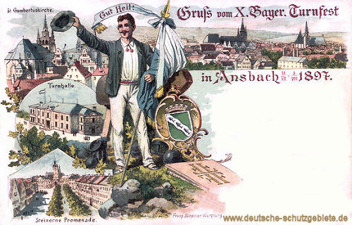 Ansbach, X. Bayer. Turnfest 1897