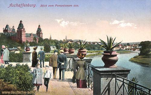 Aschaffenburg, Blick vom Pompejanum aus