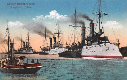 Danzig-Neufahrwasser, Kriegsflotte im Hafen