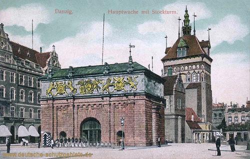 Danzig, Hauptwache mit Stockturm