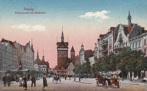 Danzig, Kohlenmarkt mit Stockturm