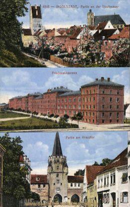 Ingolstadt, Stadtmauer, Friedenskaserne, Kreuztor