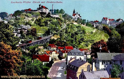 Loschwitz-Weißer Hirsch mit Drahtseilbahn