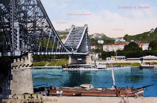 Loschwitz bei Dresden, König Albert-Brücke (Blaues Wunder)
