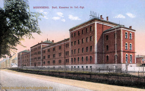 Nürnberg, Batl. Kaserne 14. Inf.-Rgt.