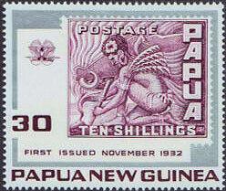 Marke aus Papua 1932 zu 10 Schilling