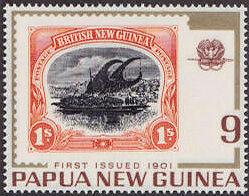 Marke aus British New Guinea 1901 zu 1 Schilling