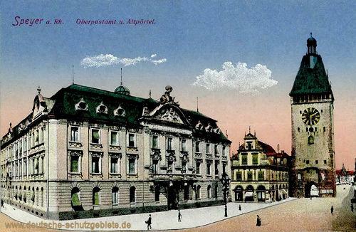 Speyer, Oberpostamt und Altpörtel