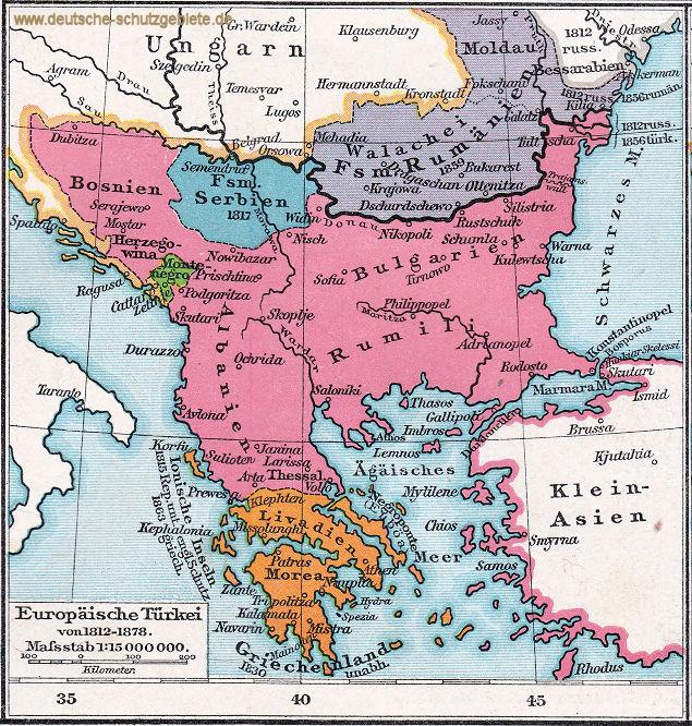 Europäische Türkei von 1812 - 1878
