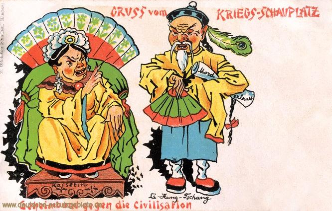 Gruss vom Kriegs-Schauplatz, Geheimbund gegen die Civilisation (Kaiserin-Regentin Cixi und Li-Hung-Tschang)