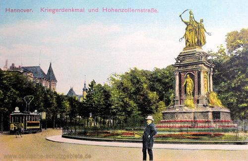 Hannover, Kriegerdenkmal und Hohenzollernstraße