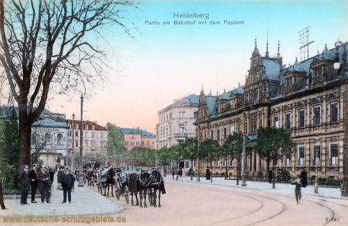 Heidelberg, Bahnhof mit Postamt