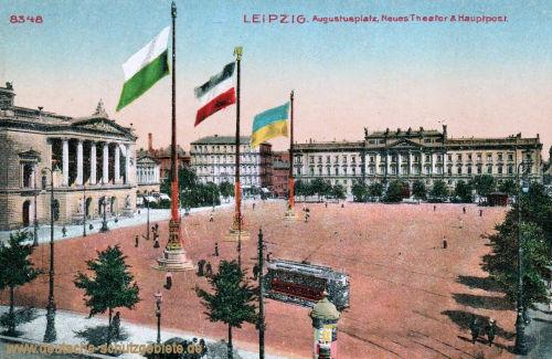 Leipzig, Augustusplatz, Neues Theater, Hauptpost
