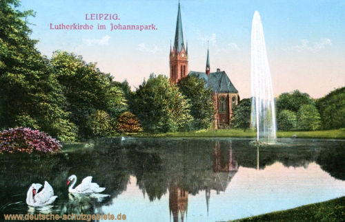 Leipzig, Lutherkirche im Johannapark