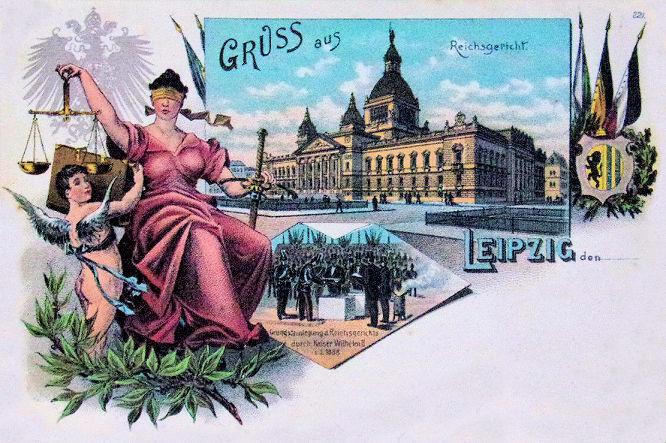 Leipzig, Reichsgericht Grundsteinlegung 1888