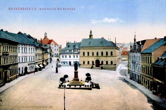 Reichenbach i. V., Marktplatz mit Rathaus