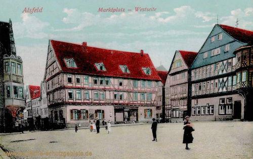 Alsfeld, Marktplatz - Westseite