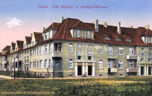 Emden, Ecke Richard- und Bahnhof-Straße