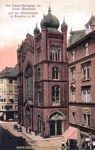 Frankfurt a. M., Die Haupt-Synagoge der Israel. Gemeinde auf der Börnerstraße