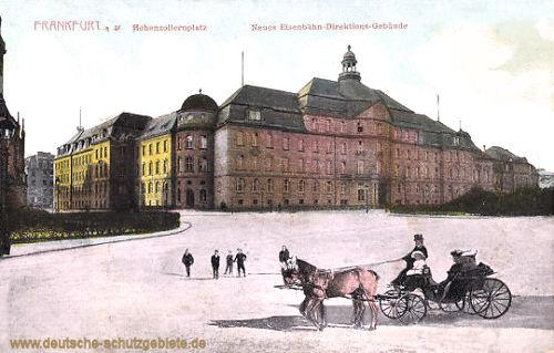 Frankfurt a. M., Hohenzollernplatz. Neues Eisenbahn-Direktions-Gebäude