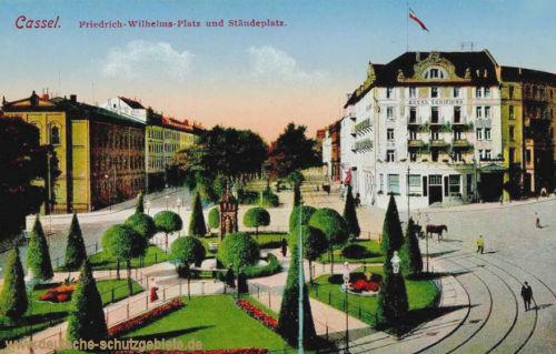 Kassel, Friedrich-Wilhelmsplatz und Ständeplatz