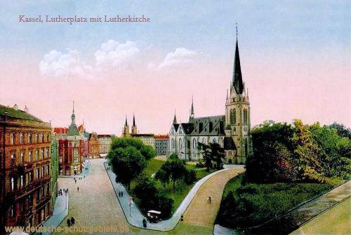 Kassel, Lutherplatz mit Lutherkirche