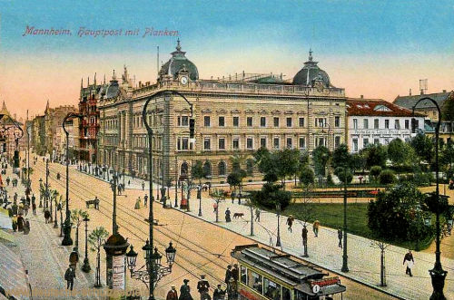 Mannheim, Hauptpost mit Planken