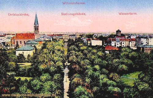 Wilhelmshaven, Christuskirche, Stationsgebäude, Wasserturm