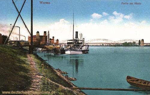 Worms, Partie am Rhein