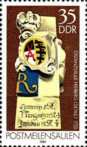 Postmeilensäulen, 35 Pfennig, DDR 1984