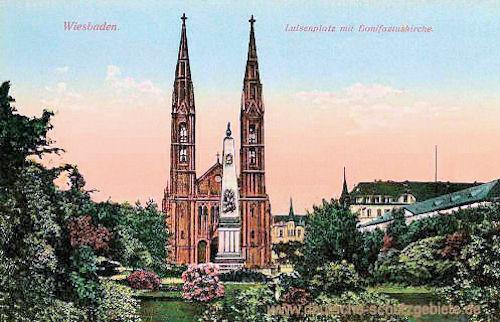 Wiesbaden, Luisenplatz, Bonifaziuskirche