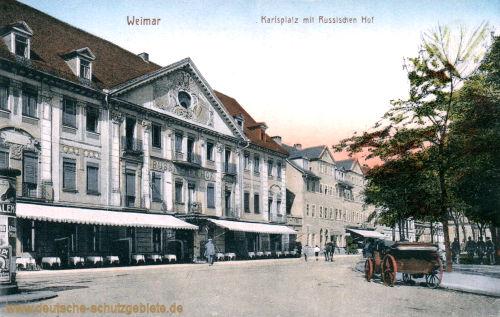 Weimar, Karlsplatz mit Russischen Hof