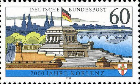 2000 Jahre Koblenz, Deutsche Bundespost 1992