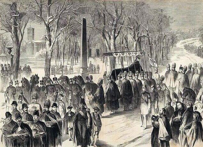 Leichenbegräbnis König Friedrich Wilhelms am 7. Januar 1861