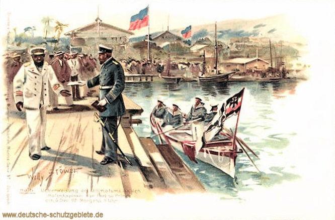 Haiti, Überweisung des Ultimatums an den Hafenkapitän