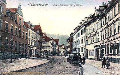 Waltershausen, Hauptstraße mit Postamt