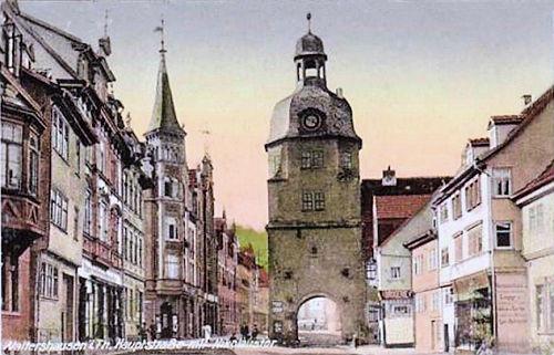 Waltershausen, Hauptstraße mit Nikolaitor