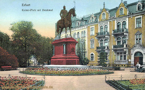 Erfurt, Kaiser-Platz mit Kaiser Wilhelm-Denkmal