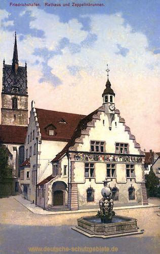 Friedrichshafen, Rathaus und Zeppelinbrunnen