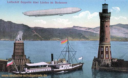 Luftschiff Zeppelin über Lindau im Bodensee