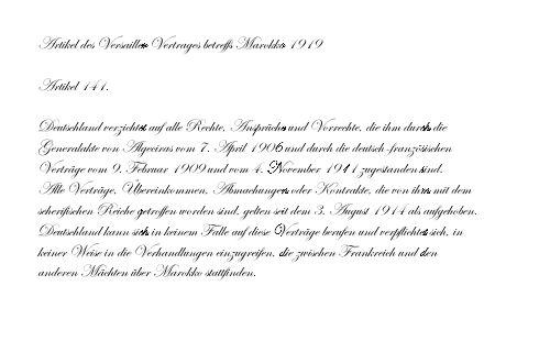 Versailler Vertrag betreffs Marokko 1919