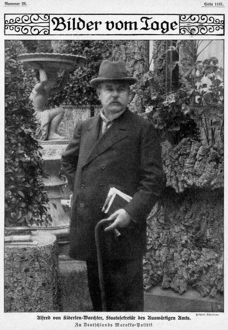 Alfred von Kinderlen-Wächter, Staatssekretär des Auswärtigen Amts. Zu Deutschlands Marokkopolitik (1911). Hofphotograph Schumann